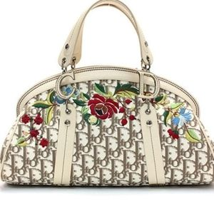 Christian Dior Monogram Floral Embroidered Canvas